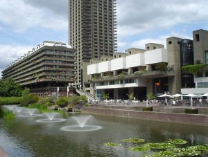 Barbican Centre fountains