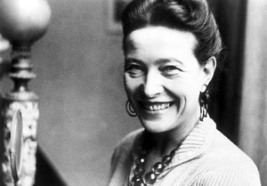 The look I am aiming for: the effortless elegance of Simone de Beauvoir, one of my heroines