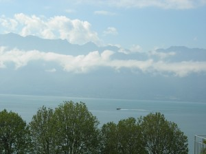 Lake Geneva from Montreux.