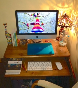 Dee's incredibly tidy desk.