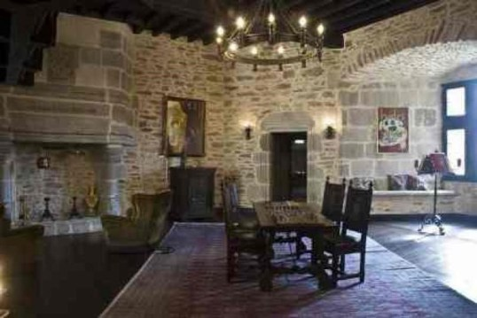 Inside the Rochechouart castle, you can find all the medieval comforts you might expect...