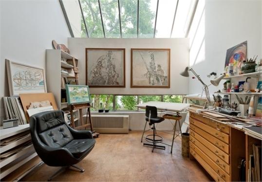 Georgie Wolton's studio, planetpropertyblog.co.uk