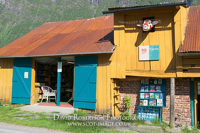 Image - Book Town. Bookshop in Fjaerland, Sogndal, Norway.