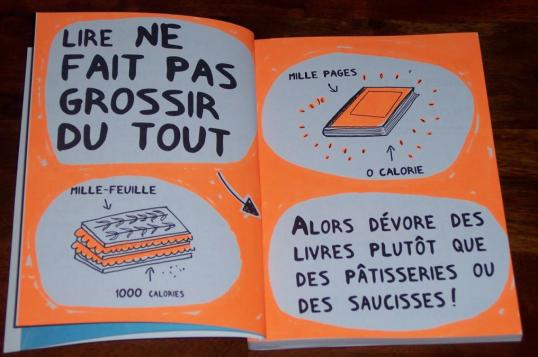 Books don't make you fat: Mille feuille (literal translation: a thousand  pages/leaves): 1000 calories. 1000 page book: 0 calories.