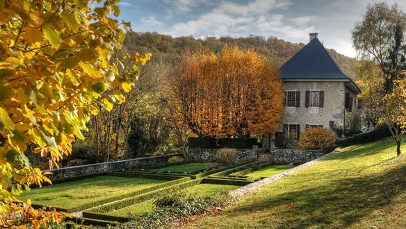 Rousseau's country retreat at Les Charmettes near Chambery became a pilgrimage site.  From culture.fr