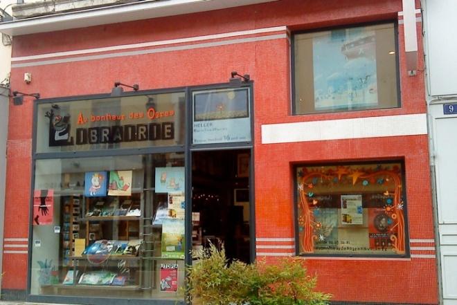 Au Bonheur des Ogres specialises in crime fiction and noir.