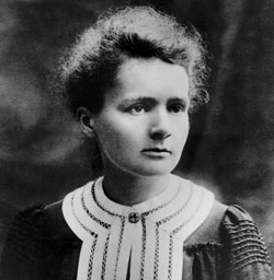 Marie Curie. From Royal Society of Chemistry website.