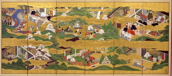 Kano Chikayasu scroll of Genji, from commons.wikimedia.org