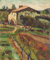 La Bergere, Cassis. Painting by Vanessa Bell.
