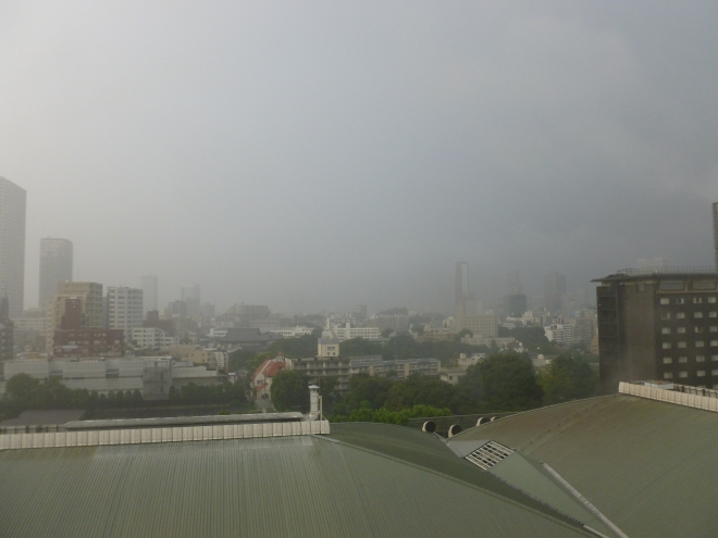 Day 1, Typhoon weather.
