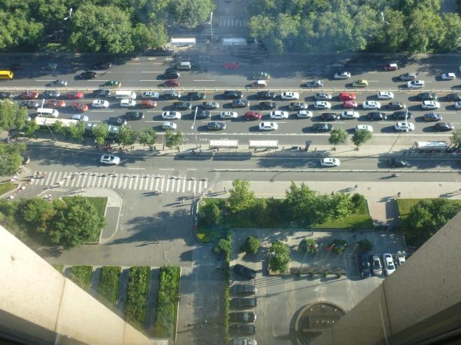 Vertigo over Beijing traffic (in its calmest moments).