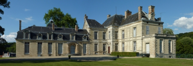 Madame de Chatelet's chateau in Cirey-sur-Blaise, where she lived in domestic bliss with Voltaire. From chateaudecirey.com