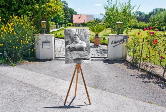 Richard Burton died in this house in Celigny and is buried in the local cemetery. From L'Hebdo.