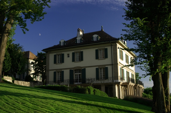 Villa Diodati, where Byron stayed with his friends Percy and Mary Shelley during a terrible storm over Lake Geneva, which inspired Mary Shelley to write Frankenstein and Dr. Polidori to create the first Gothic vampire.