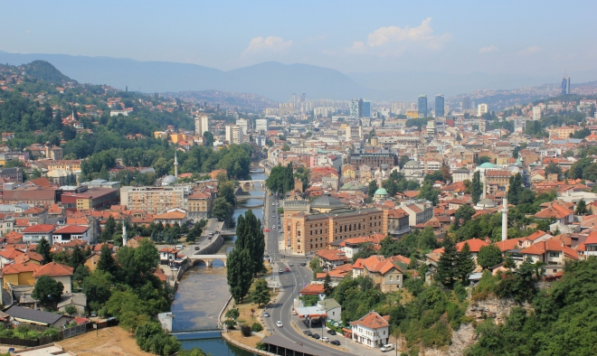 Panorama of Sarajevo, from Wikiwand.