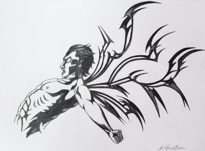 Drawing by Jodi Harvey-Brown: Inner Demons. From fineartamerica.com