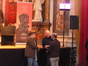 Craig Johnson & Indridason chatting before the event.