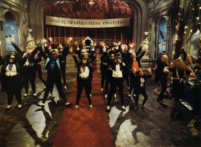 The Time Warp from Rocky Horror Picture Show - besides, I've got relatives in Transylvania, so there!