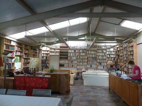 Dining room and coffee area, more to delight booklovers...