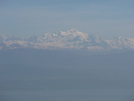 And, above us all, the Mont Blanc floating in its haze like a ghostly apparition.