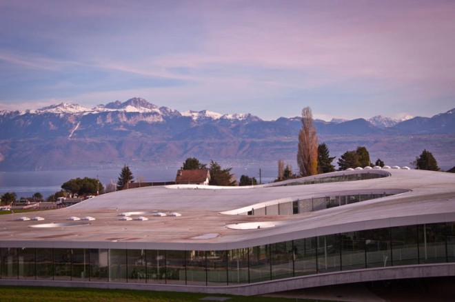 The Rolex Learning Centre in Lausanne, from EPFL website.
