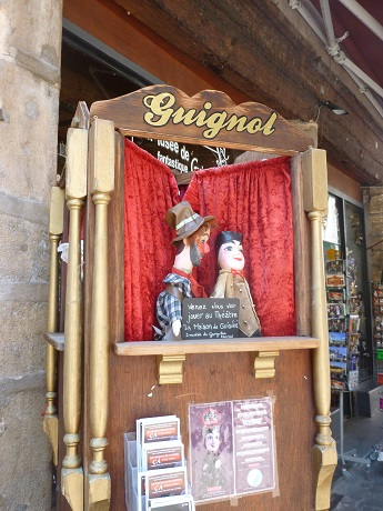 I didn't go to see a Guignol show this time, but I do like the French equivalent of 'Punch and Judy'.