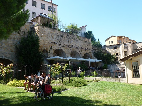 One of my favourite 'hidden gardens': the cafe at the top of the Gadagne Museum.