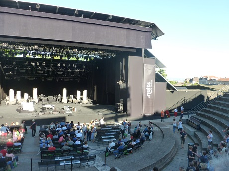 The stage is ready in the oldest Roman amphitheatre in France.