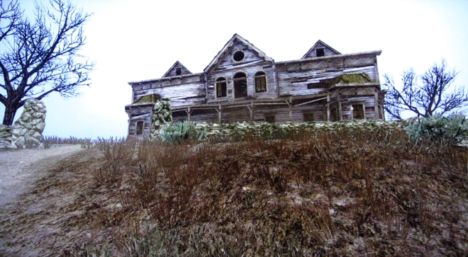 Deserted wooden mansion in the American Midwest, from Red Dead Wiki