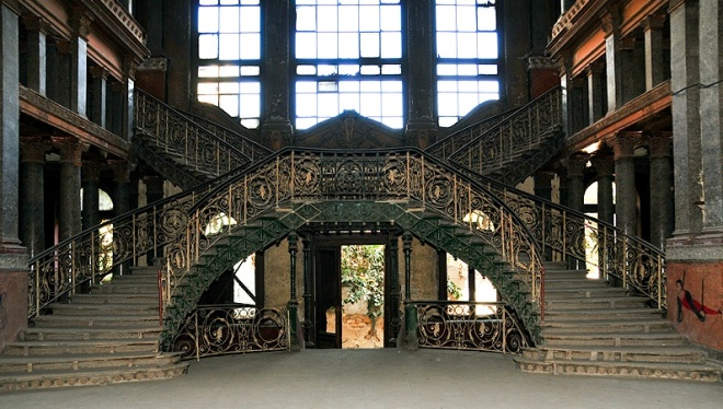 The staircase of Prince Said Halim's Palace in Cairo, from Urban Ghosts Media