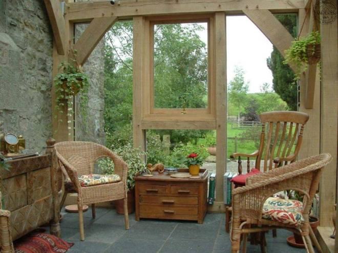 It doesn't always have to be winter - here is a cosy conservatory in spring/summer. From workdon.com