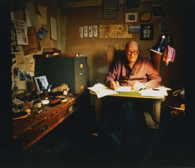 Roald Dahl's famous writing hut, from Dahl Museum and Storycentre.