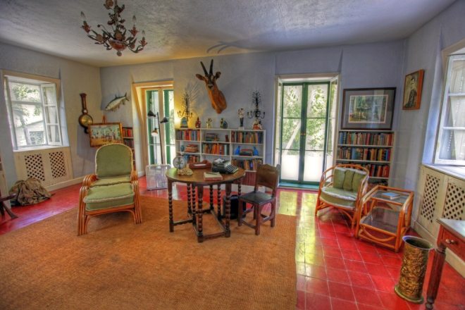 Ernest Hemingway's study in Key West. From earthxplorer.com