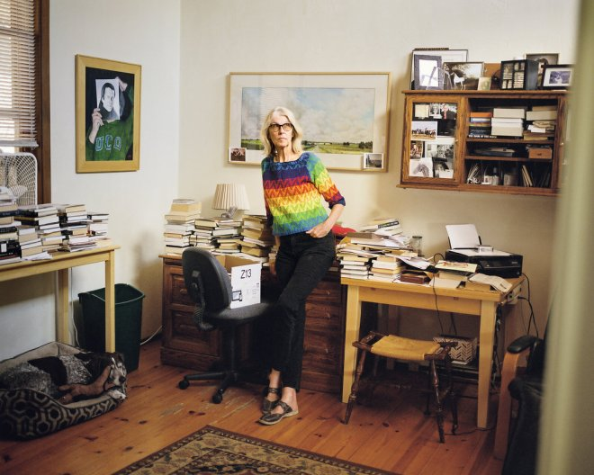Jane Smiley is so overwhelmed by books, I am not sure where she can write. From NY Times.