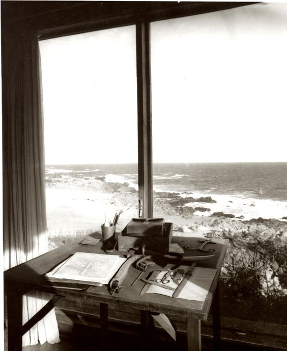Pablo Neruda looked out on a beautiful view, just as I imagined. From Pinterest.