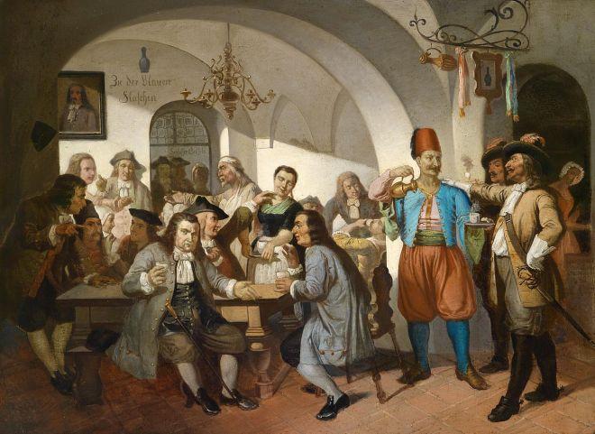Zu der Blauen Flaschen, from www.dorotheum.com